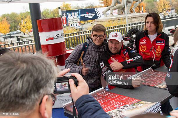 Rafal Sonik during the Pit Party on the National Stadium's promenade before Verva Street Racing on October 24 2015 in Warsaw Poland