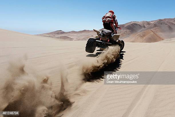 Rafal Sonik of Poland for Sonik Team YFM700R Raptor Yamaha compete during day 6 of the Dakar Rallly between Antofaasta and Iquique on January 9 2015...