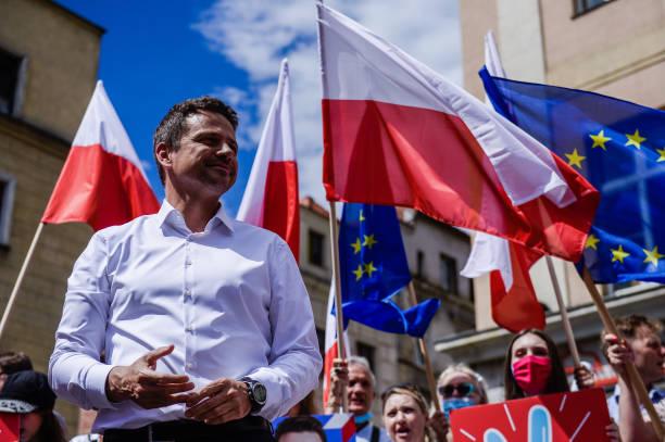 POL: Warsaw Mayor Rafal Trzaskowski Holds Rally Ahead Of Presidential Runoff