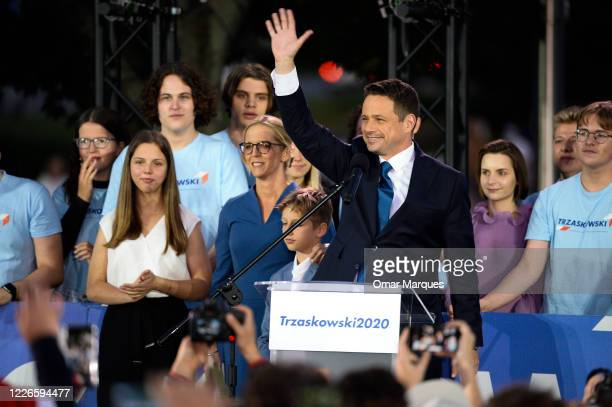 Rafal Trzaskowski, mayor of Warsaw and presidential candidate for the center-right main opposition party, Civic Platform , his wife, Malgorzata...