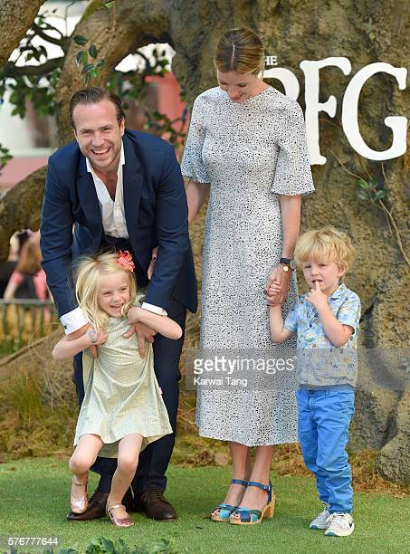 Rafe Spall and Elize du Toit arrive for the UK film premiere of The BFG' at Odeon Leicester Square on July 17 2016 in London England