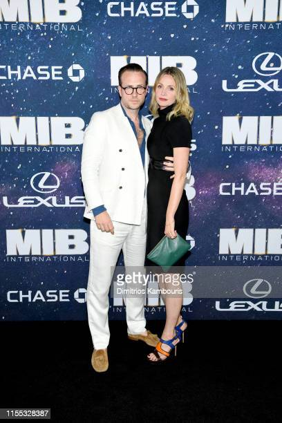 Rafe Spall and Elize du Toit at the World Premiere of Columbia Pictures' MEN IN BLACK™ INTERNATIONAL sponsored by Lexus at AMC Lincoln Square on June...