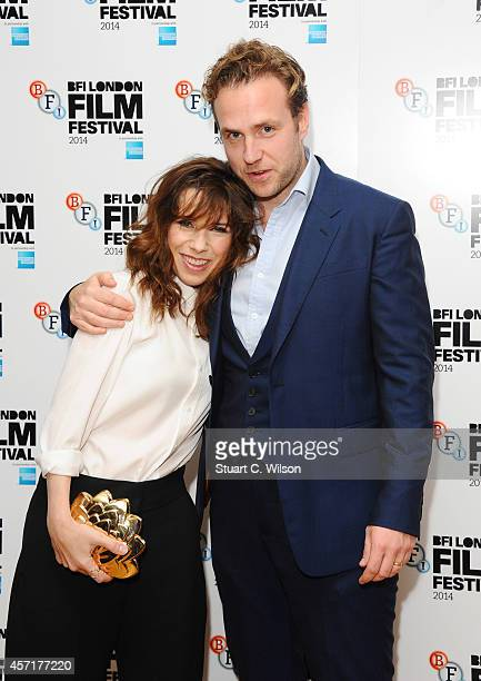 Rafe Spall and Sally Hawkins attend the red carpet arrivals of 'XY' during the 58th BFI London Film Festival at Odeon West End on October 13 2014 in...