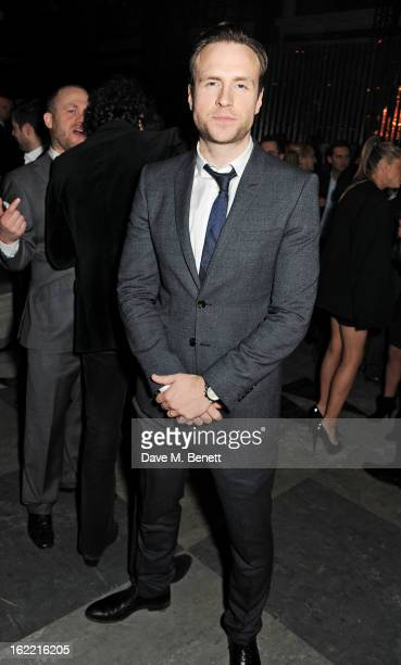 Rafe Spall attends the Universal Music Brits Party hosted by Bacardi at the Soho House popup on February 20 2013 in London England