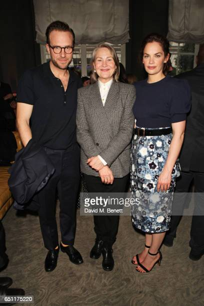 Rafe Spall Cherry Jones and Ruth Wilson attends the Olivier Awards 2017 nominees celebration at Rosewood London on March 10 2017 in London England