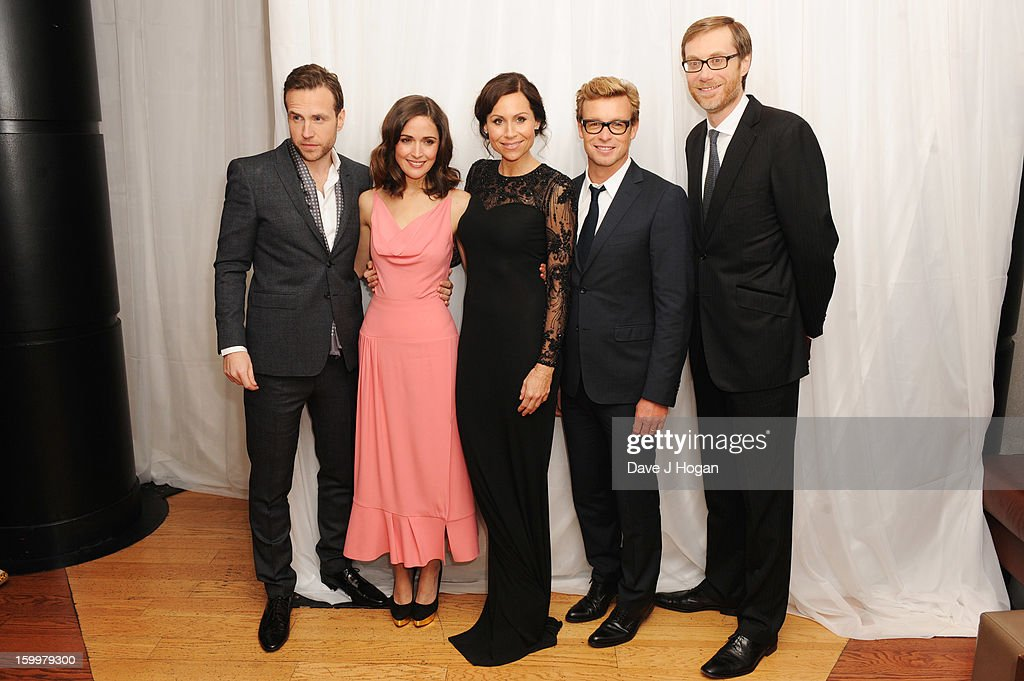 Rafe Spall, Rose Byrne, Minnie Driver, Simon Baker and Stephen Merchant attend the European premiere of 'I Give It A Year' at The Vue West End on January 24, 2013 in London, England.