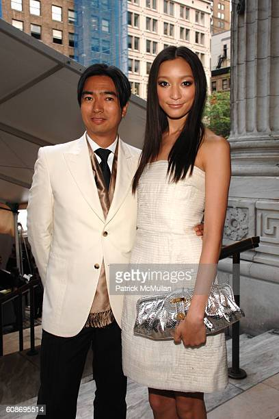 Rafe Totengco and Anne Watanabe attend The 2007 CFDA Fashion Awards at The New York Public Library on June 4, 2007 in New York City.