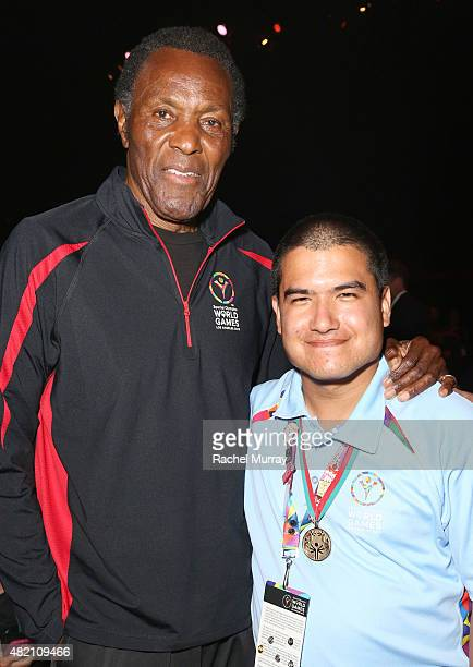 Rafer Johnson and Joseph Gorin attend 'CocaCola and ESPN Celebration Of The Human Spirit Of Eunice Kennedy Shriver' at the Special Olympics World...