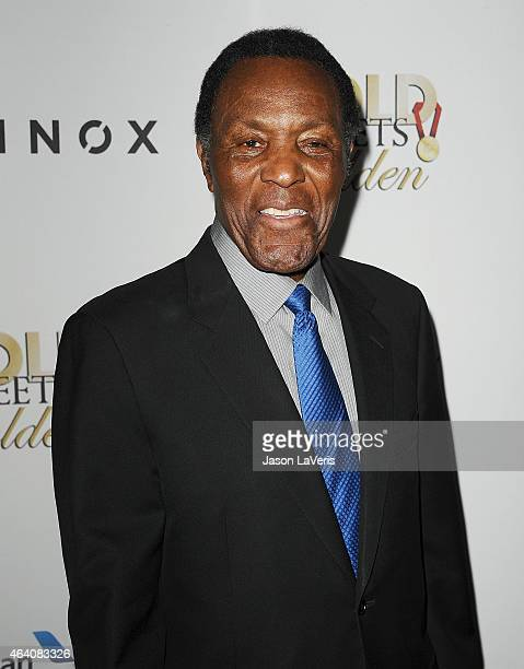 Rafer Johnson attends the 3rd annual Gold Meets Golden at Equinox Sports Club West LA on February 21 2015 in Los Angeles California