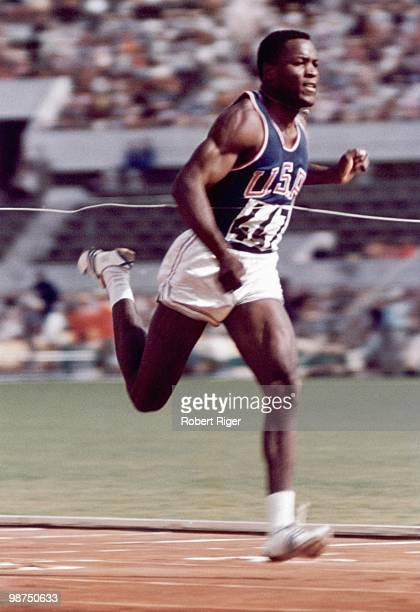 Rafer Johnson of the United States competes in the Decathlon competition during the 1960 Summer Olympics in Rome Italy