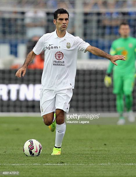 Raffa Marquez of Verona during the Serie A match between Atalanta BC and Hellas Verona FC at Stadio Atleti Azzurri d'Italia on August 31 2014 in...