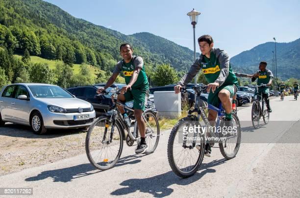 Raffael and Julio Villalba of Borussia Moenchengladbach during a training session at the Training Camp of Borussia Moenchengladbach on July 21 2017...