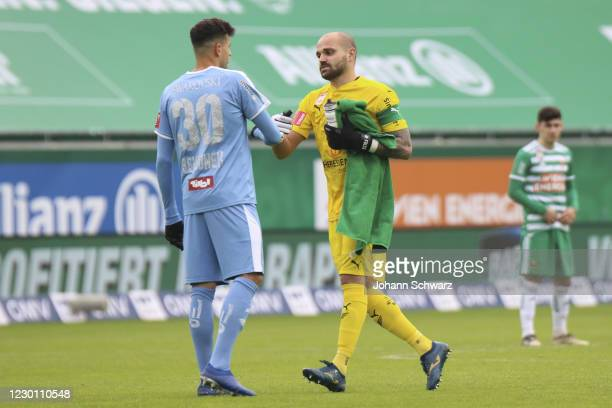 Raffael Behounek and Ferdinand Oswald of WSG Tirol during the tipico Bundesliga match between SK Rapid Wien and WSG Swarovski Tirol at Allianz...