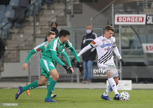 Raffael Behounek of WSG Tirol and Ivan Ljubic of Sturm Graz during the Uniqa OeFB Cup match between SK Puntigamer Sturm Graz and WSG Swarovski Tirol...