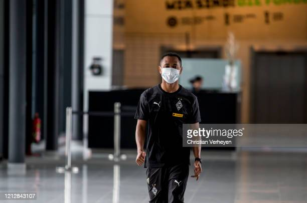 Raffael is seen during the Pre-Game Quarantine of Borussia Moenchengladbach at Borussia-Park on May 11, 2020 in Moenchengladbach, Germany.