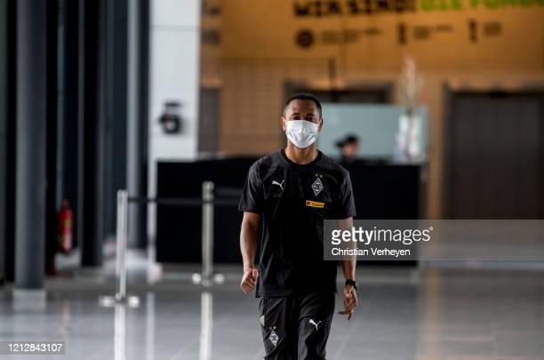 Raffael is seen during the PreGame Quarantine of Borussia Moenchengladbach at BorussiaPark on May 11 2020 in Moenchengladbach Germany