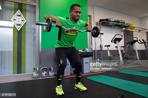 Raffael of Borussia Moenchengladbach during training session at BorussiaPark on October 10 2016 in Moenchengladbach Germany