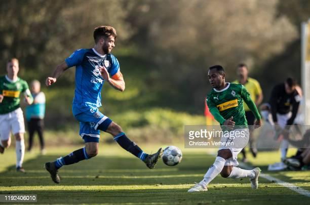 Raffael of Borussia Moenchengladbach in action during the friendly match between Borussia Moenchengladbach and Heracles Almelo at the Borussia...