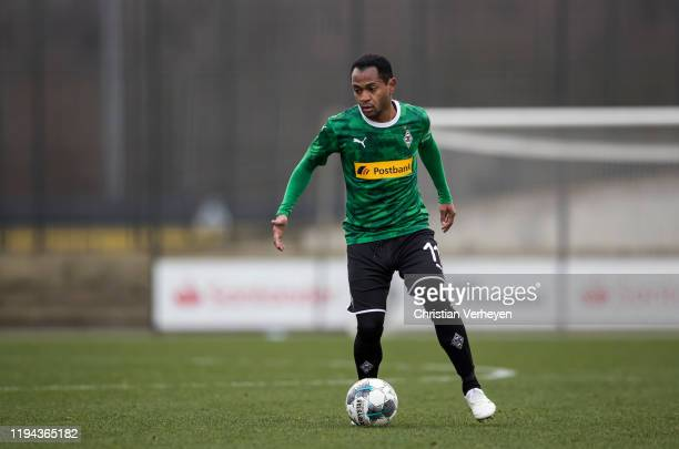 Raffael of Borussia Moenchengladbach in action during the friendly match between Borussia Moenchengladbach and MSV Duisburg at BorussiaPark on...