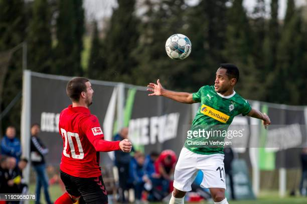 Raffael of Borussia Moenchengladbach in action during the second friendly match between Borussia Moenchengladbach and SC Freiburg at the Borussia...