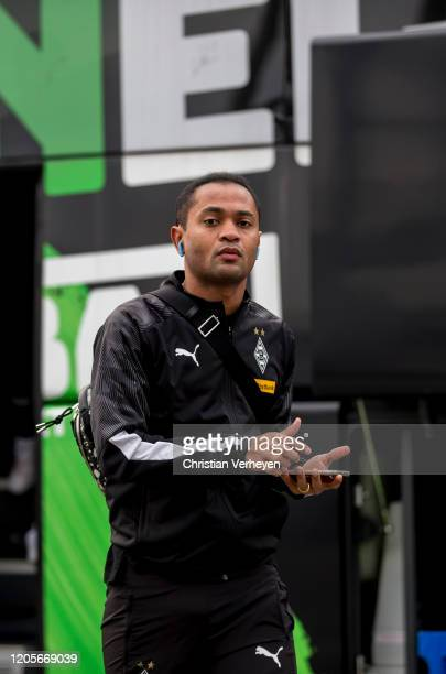 Raffael of Borussia Moenchengladbach is seen before the the Bundesliga match between Borussia Moenchengladbach and Borussia Dortmundat BorussiaPark...