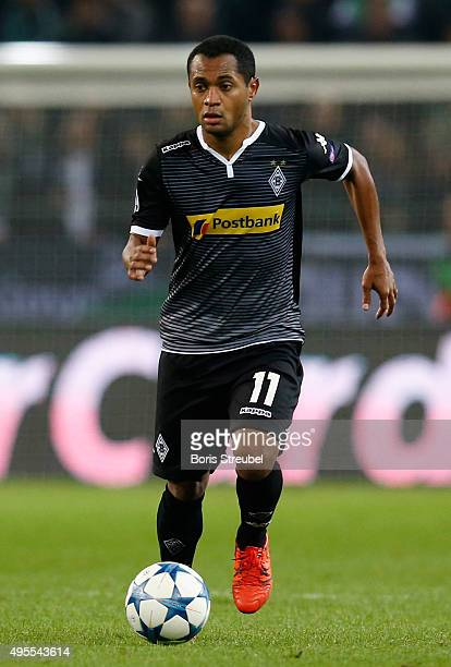 Raffael of Borussia Monchengladbach runs with the ball during the UEFA Champions League Group D match between VfL Borussia Monchengladbach and...
