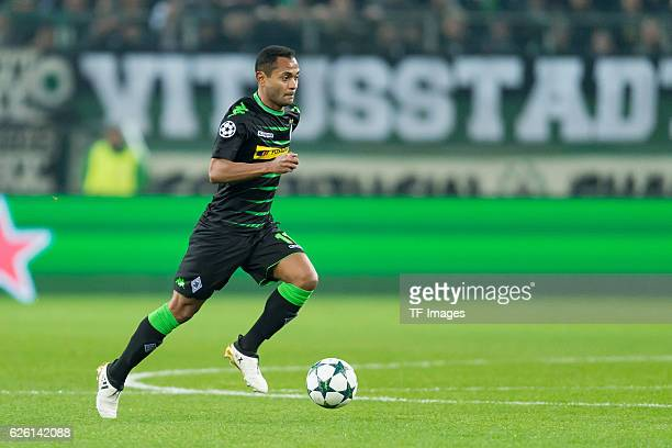 Raffael of Gladbach in action during the UEFA Champions League match between VfL Borussia Moenchengladbach and Manchester City FC at BorussiaPark on...
