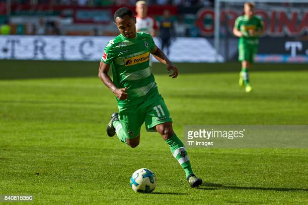Raffael of Moenchengladbach controls the ball during a Bundesliga match between FC Augsburg and Borussia Moenchengladbach at WWK Arena on August 26...