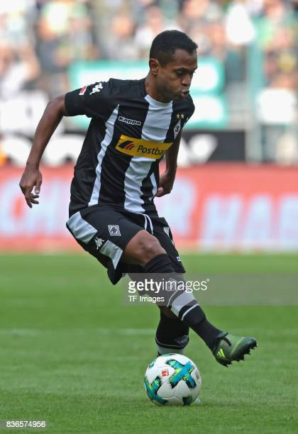Raffael of Moenchengladbach in action during the Bundesliga match between Borussia Moenchengladbach and 1 FC Koeln at BorussiaPark on August 20 2017...