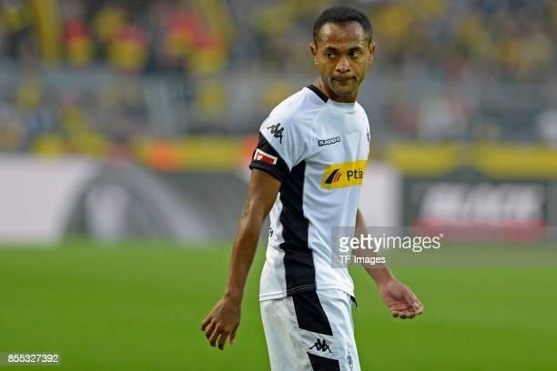 Raffael of Moenchengladbach looks on during the Bundesliga match between Borussia Dortmund and Borussia Moenchengladbach at Signal Iduna Park on...