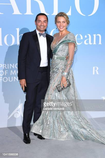 Raffaele Costa and Tetyana Veryovkina attend the Gala for the Global Ocean hosted by HSH Prince Albert II of Monaco at Opera of MonteCarlo on...