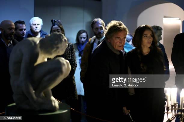 Raffaele Curi attends Fondazione Alda Fendi Esperimenti L'Adolescente by Michelangelo from The State Hermitage Museum on December 14 2018 in Rome...