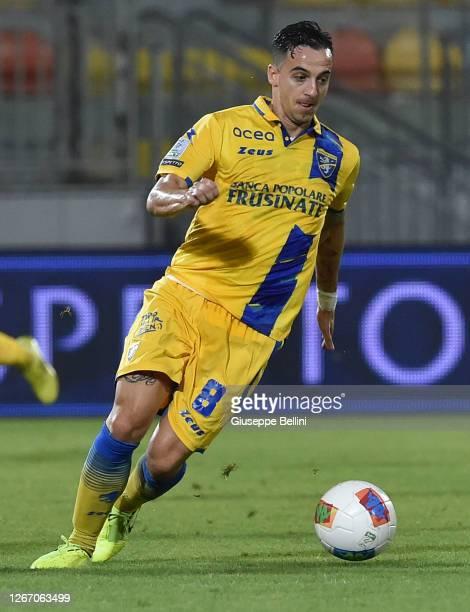 Raffaele Maiello of Frosinone Calcio in action during the Serie B Playoff Final first leg match between Frosinone Calcio and Spezia Calcio on August...