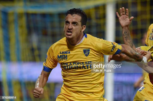 Raffaele Maiello of Frosinone celebrates after scoring the opening goal during the serie B playoff match final between Frosinone Calcio v US Citta di...