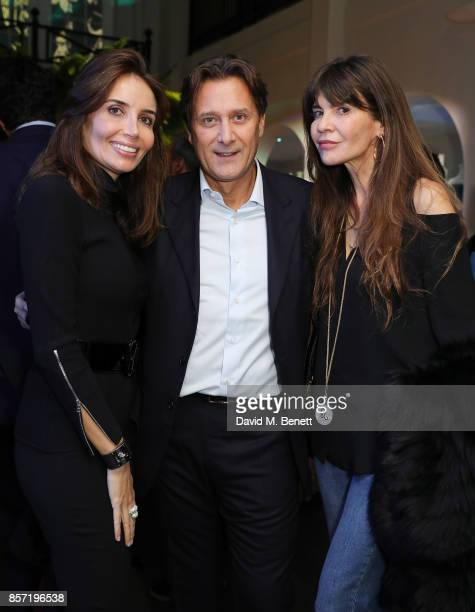 Raffaele Mincione and Carla Maria Orsi Carbone attend the launch of M Industry London and the Art Bag at 51 Berkeley Square on October 3 2017 in...