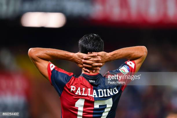 Raffaele Palladino of Genoa expresses his disappointment after a missed chance during the Serie A match between Genoa CFC and AC Chievo Verona at...