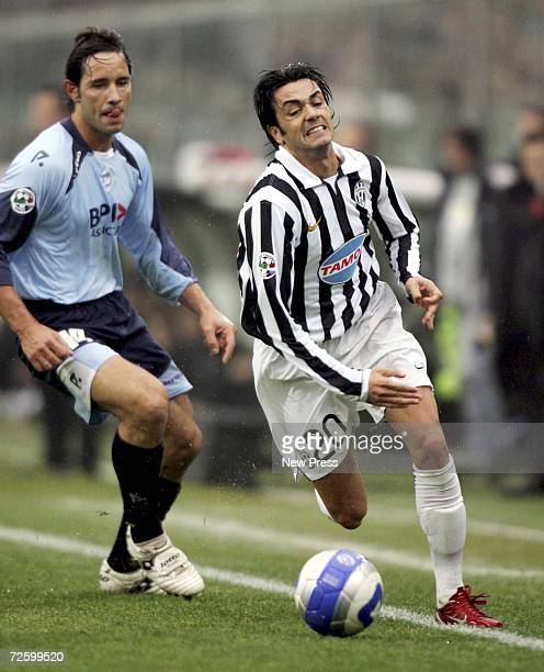 Raffaele Palladino of Juventus runs with the ball during the Serie B match between Albinoleffe and Juventus at the Atleti Azzurri d'Italia stadium on...