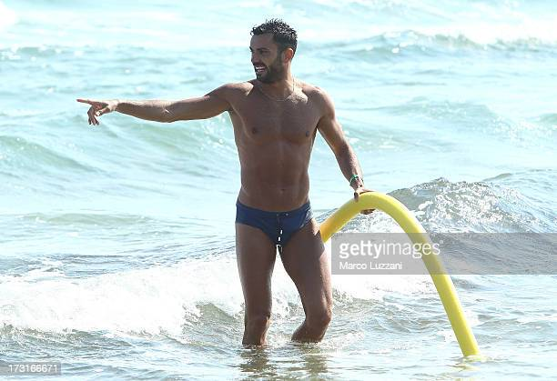 Raffaele Palladino of Parma FC gestures during a Parma FC PreSeason Training Session at Rosa Marina Resort on July 8 2013 in Ostuni Italy