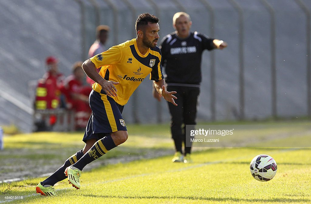Raffaele Palladino of Parma in action during the pre-season friendly match between Carpi FC and FC Parma at Stadio Sandro Cabassi on August 23, 2014 in Carpi, Italy.