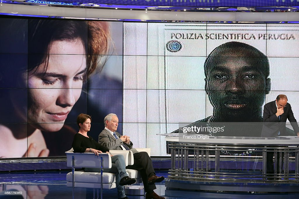 Raffaele Sollecito At 'Porta A Porta' Talk Show : News Photo