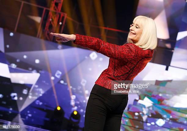 Raffaella Carra attends 'Forte Forte Forte' TV show photocall at RAI Voxon Studios on January 8 2015 in Rome Italy