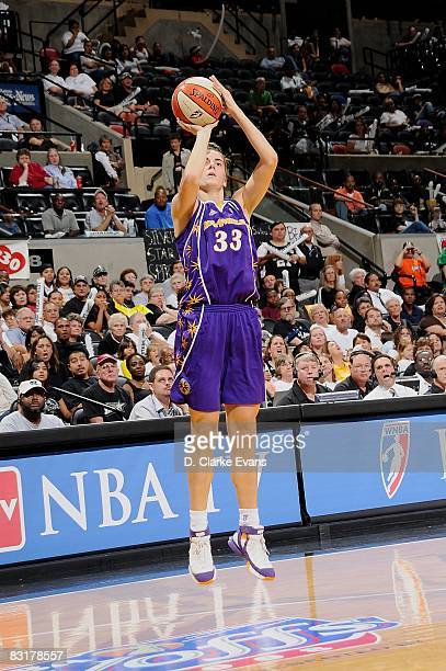 Raffaella Masciadri of the Los Angeles Sparks shoots a jumper in Game Three of the Western Conference Finals against the San Antonio Silver Stars...