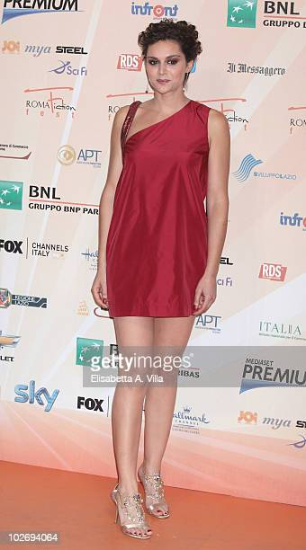 Raffaella Rea attends a photocall during the Rome Fiction Fest at Adriano Cinema on July 7 2010 in Rome Italy