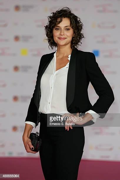 Raffaella Rea attends the 'La Strada Dritta' pink carpet at Auditorium Parco Della Musica as a part of Roma Fiction Fest 2014 on September 16 2014 in...