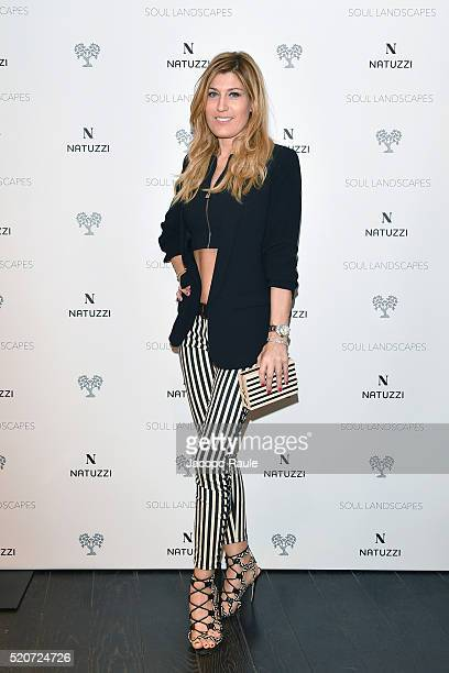 Raffaella Zardo attends Natuzzi Soul Landscapes on April 12, 2016 in Milan, Italy.
