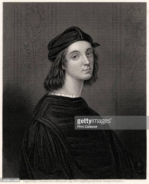 'Raffaelle' 19th century Raphael or Raffaello of Urbino was a master painter and architect of the Florentine school in the Italian High Renaissance...