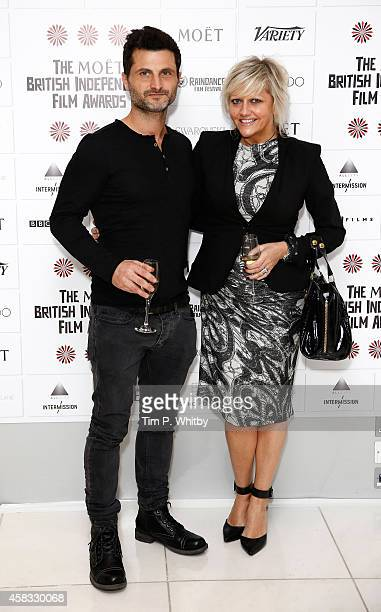 Raffaello Degruttola and Camille Coduri attend the nominations launch for the British Independent Film Awards on November 3 2014 in London England