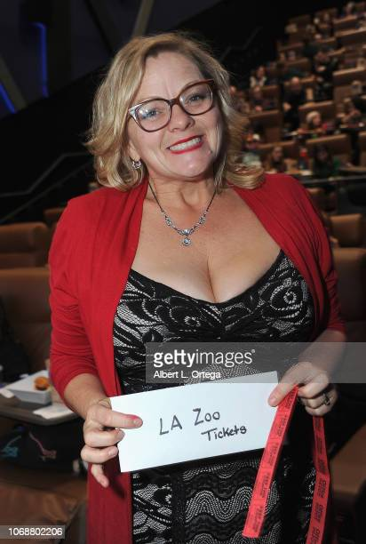 Raffel winner Amy Jennings at the Hunter Payton And The Shoe Crew Holiday Charity Fundraiser Screening of Illumination's 'The Grinch' Benefiting The...