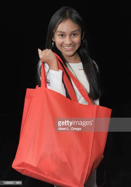 Raffel winner Isabella Leon at the Hunter Payton And The Shoe Crew Holiday Charity Fundraiser Screening of Illumination's 'The Grinch' Benefiting The...