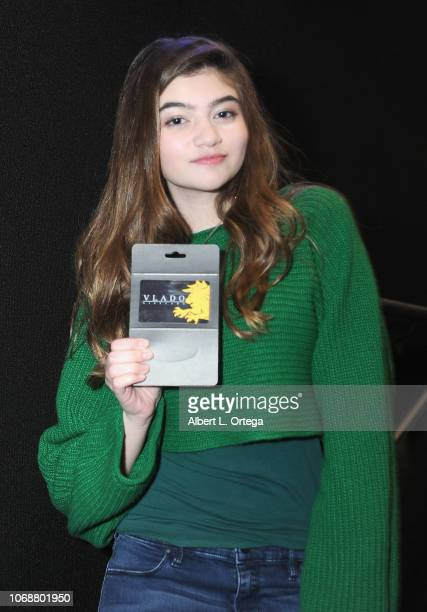 Raffel winner Samantha Gangal at the Hunter Payton And The Shoe Crew Holiday Charity Fundraiser Screening of Illumination's 'The Grinch' Benefiting...